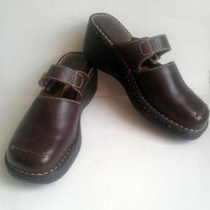 Born dark brown leather slip-ons